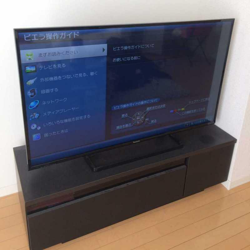 Panasonic ビエラ49V型 TH-49E300液晶テレビで視聴している様子