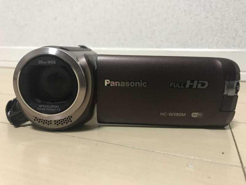 Panasonic HC-W580M 32GBビデオカメラの液晶モニター