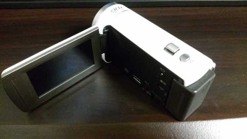 panasonic HC-V480MS(ホワイト)ビデオカメラの操作パネル
