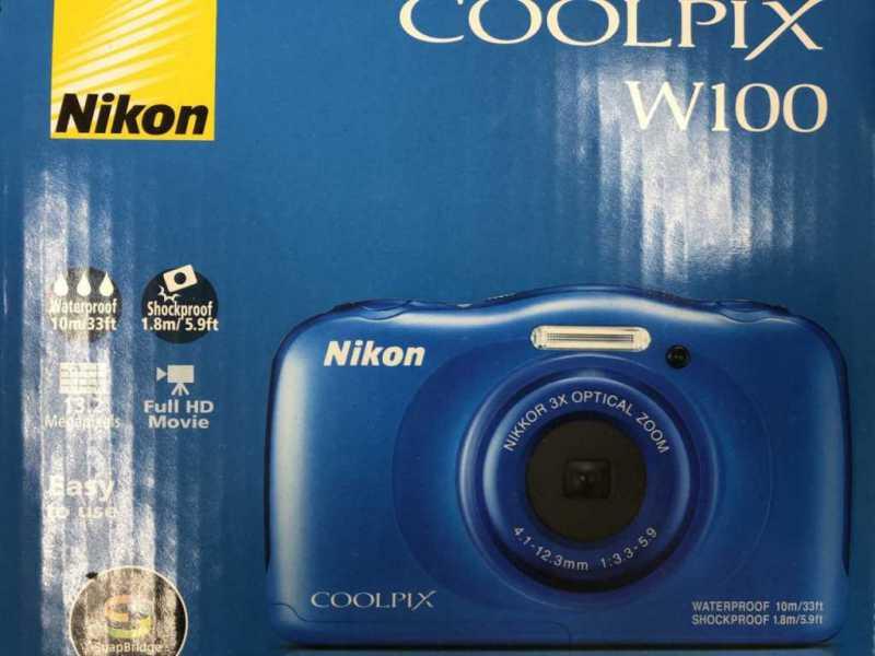 NIKON COOLPIX W100/BLデジタルカメラの外箱