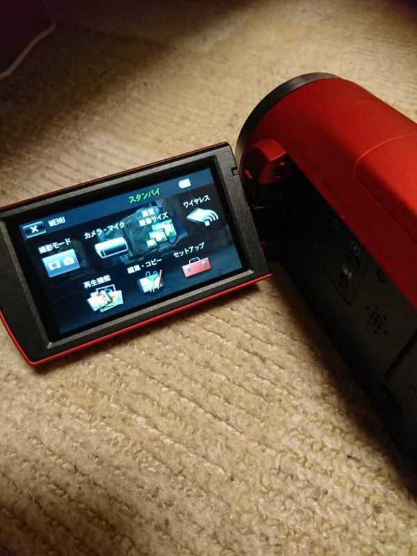 SONY HANDYCAM HDR-CX680ビデオカメラの操作ディスプレイの画面