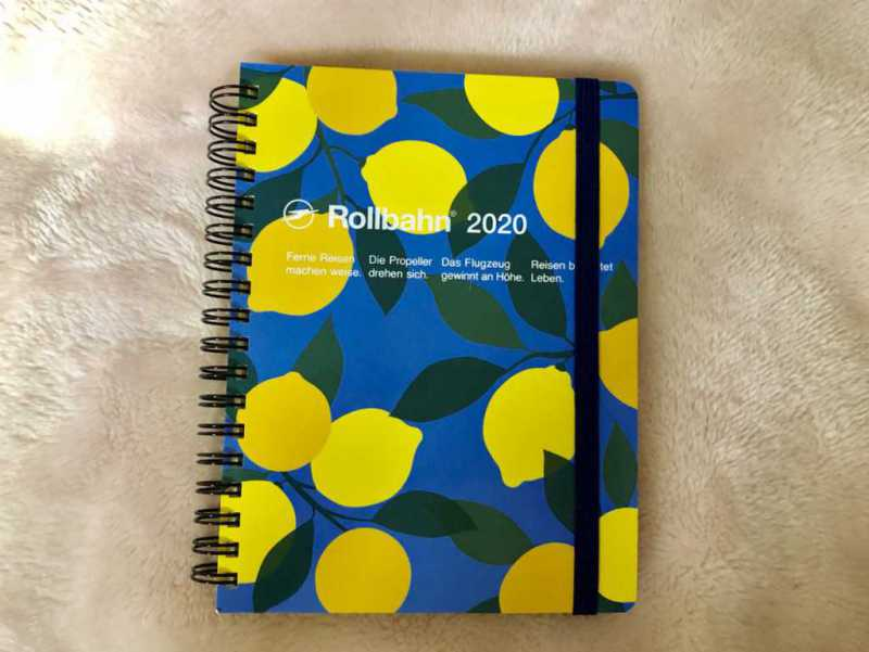 スケジュール帳(Rollbahn 2020 ダイアリー レモン LA)