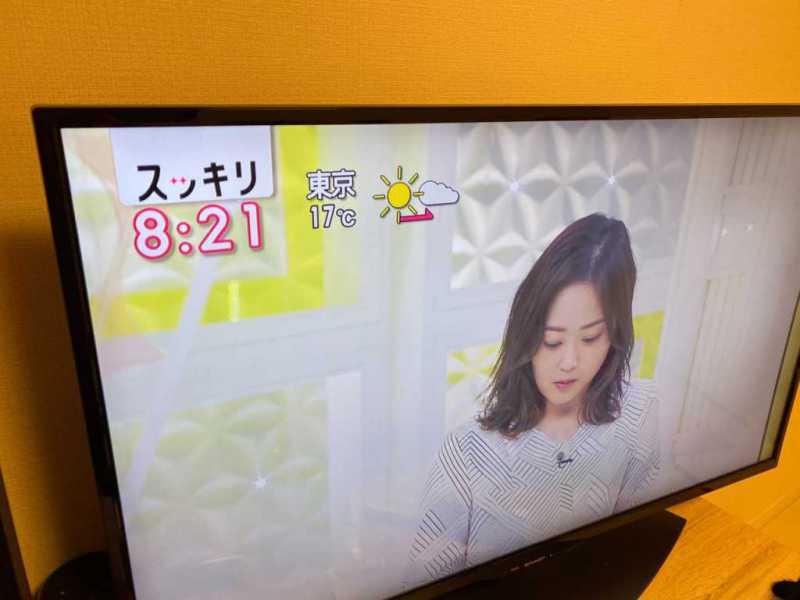 AQUOS 4T-C40BJ1液晶テレビでテレビを実際に表示している画面