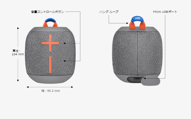 Ultimate Ears UE WONDERBOOM(WS650)スピーカーのスペック