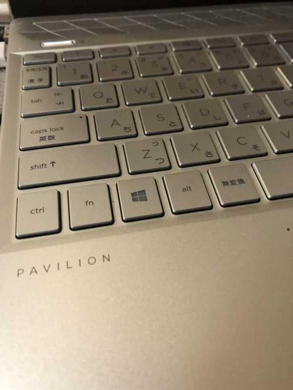 HP Pavilion 13-an1000 13インチノートパソコンのキーボード部分