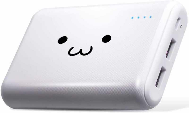 エレコムのホワイトフェイスシリーズのモバイルバッテリー|かわいいデザインなら!