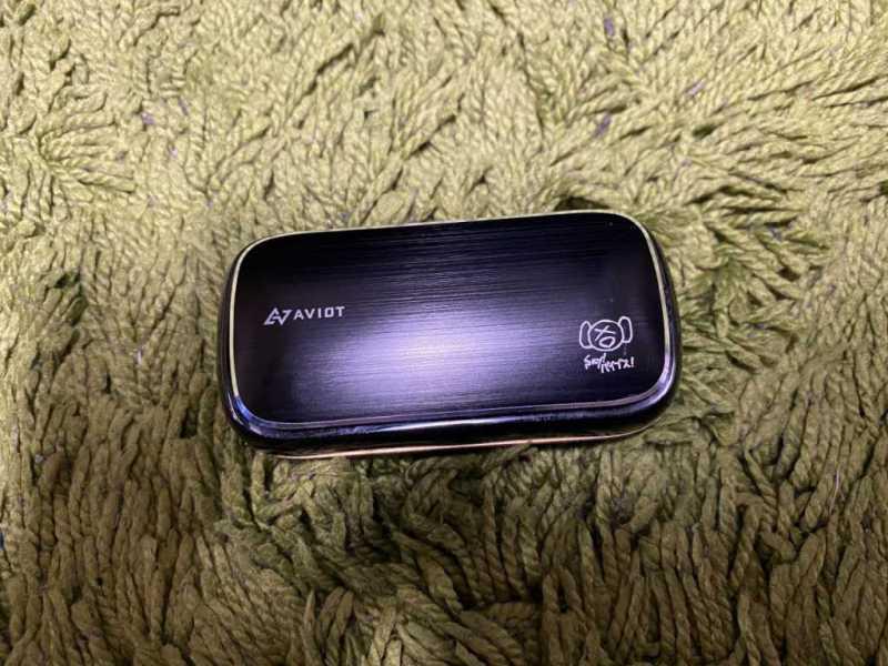 AVIOT TE-BD21fワイヤレスイヤホンのピエール中野さんコラボの箱