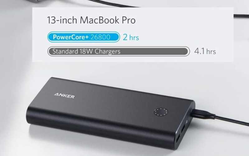 Anker PowerCore+ 26800 PDモバイルバッテリー|ノートパソコンにも充電できる急速充電
