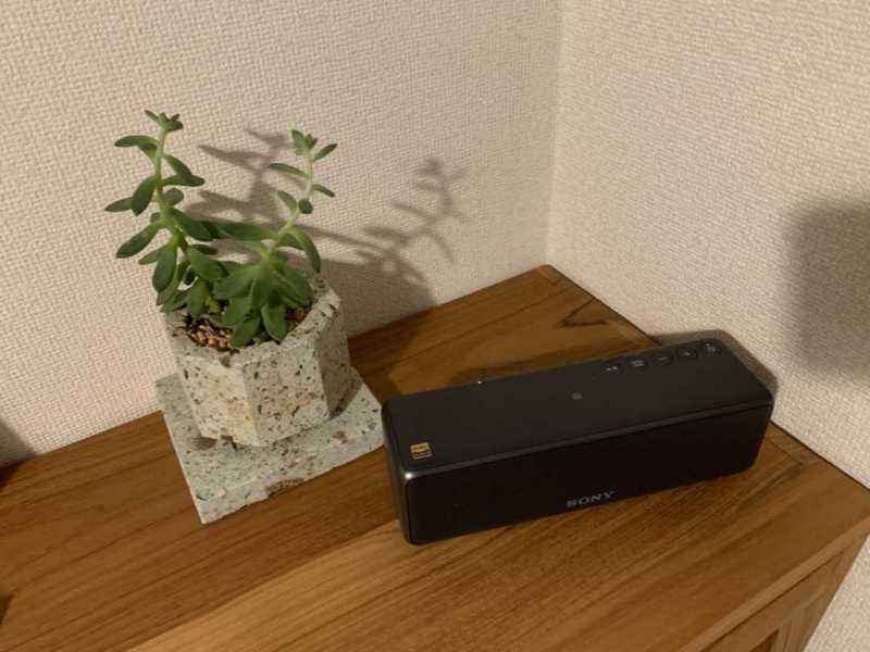 SONY SRS-HG10ワイヤレスポータブルスピーカーの上側の操作ボタン