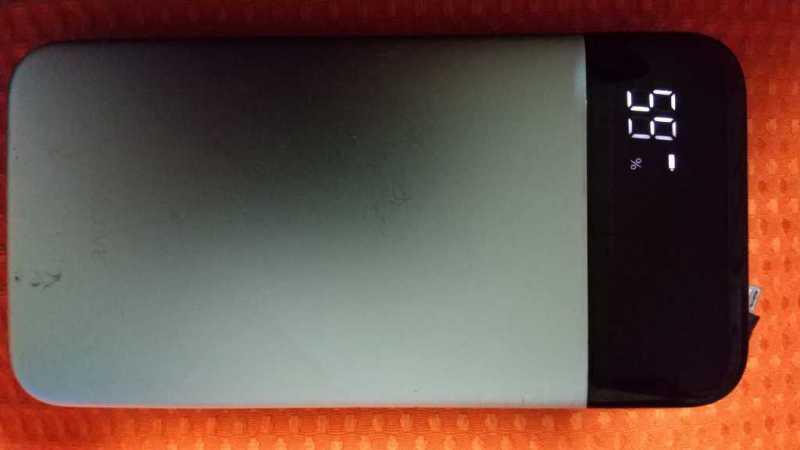 SOLOVE A5 Pro 20000mAh(ケーブル内蔵型)モバイルバッテリーのバッテリー残量表示
