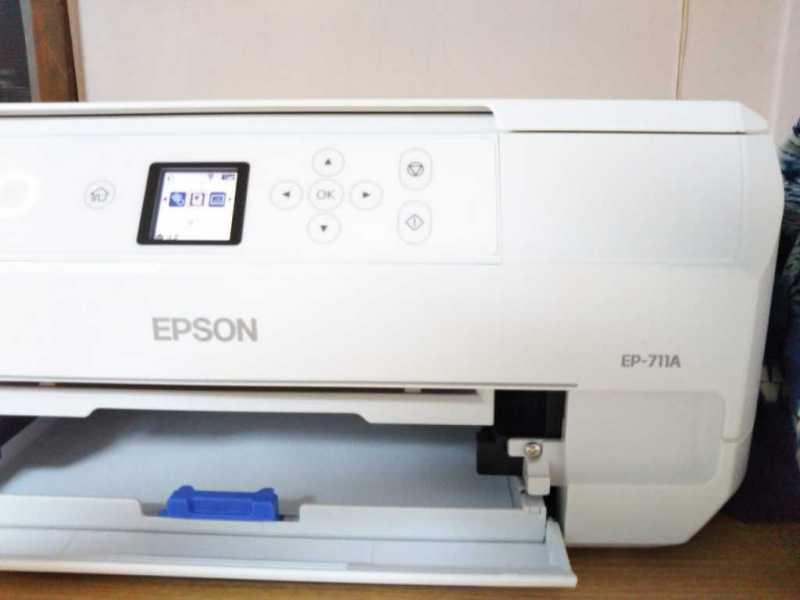 エプソン カラリオ EP-711Aプリンターの操作パネル