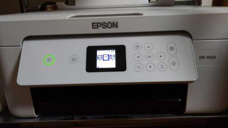 エプソン カラリオ EW-452Aプリンターの操作パネル