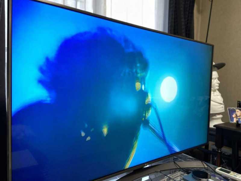 LGエレクトロニクス 55UK6300PJF(55インチ)液晶テレビのディスプレイ表示の様子