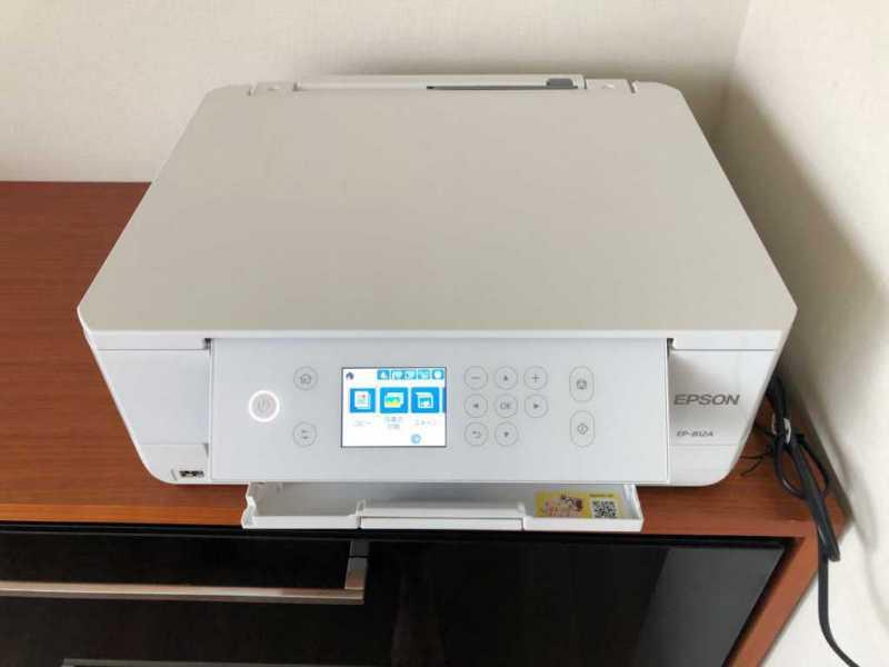 エプソン カラリオ EP-812Aプリンターのディスプレイ表示