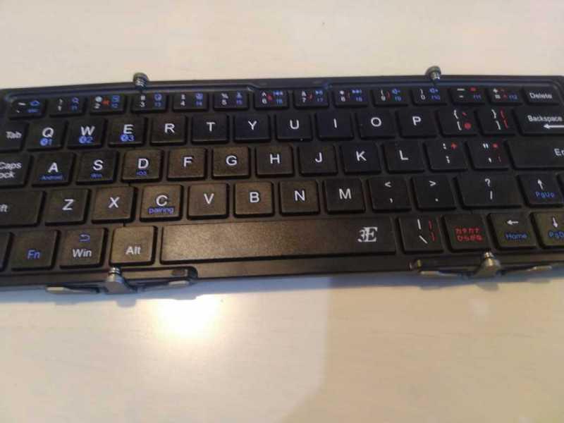 スリーイー NEO 3E-BKY8 Bluetoothキーボードのキータッチの様子
