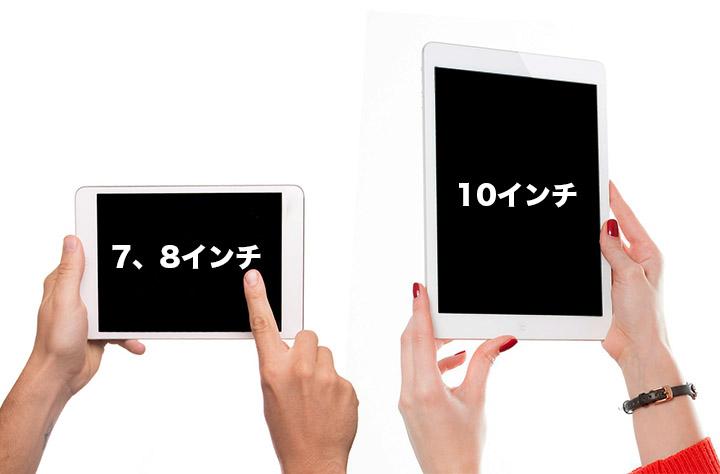 タブレットを画面サイズで選ぶ