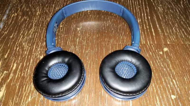 パナソニック RP-HF410Bワイヤレスヘッドフォンのイヤーパット部分