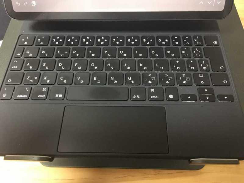 Apple Magic keyboard(iPad Pro専用)キーボードのキーとタッチパッド