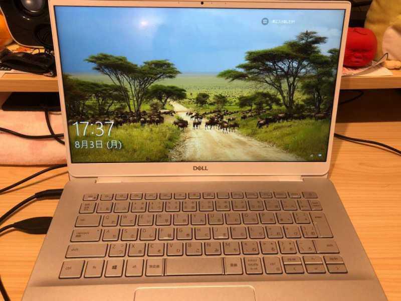DELL Inspiron 14 5000(5490)ノートパソコンのディスプレイとキーボード