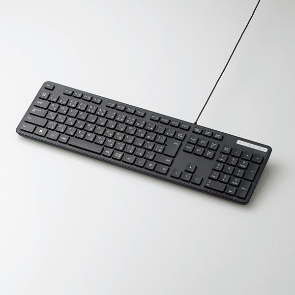 ELECOM:TK-FCM108X|1,000円台の有線薄型フルキーボード