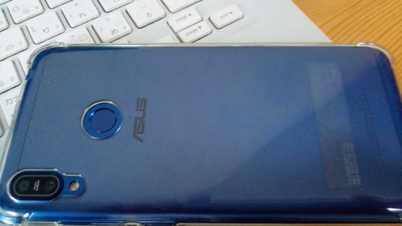 ASUS Zenfone Max M2スマートフォン(SIMフリー)の裏側