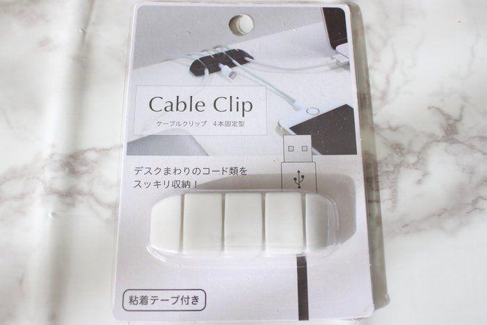 ケーブルクリップ:セリア Cable Clip(ケーブルクリップ4本固定型)