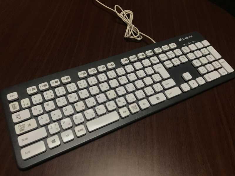ロジクール Washable Keyboard K310キーボードのキースイッチ