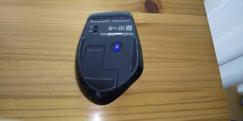 BUFFALO BSMBW300MマウスのLEDセンサー部分