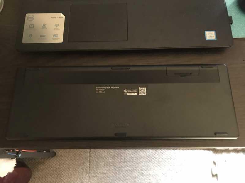 ELECOM TK-FDP099Tキーボードの底面