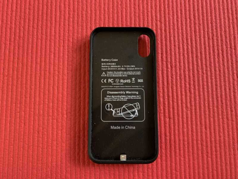 Yacikos 6500mAh バッテリーケース(iPhone X / XS / 10 / 5.8インチ用)モバイルバッテリーの内側