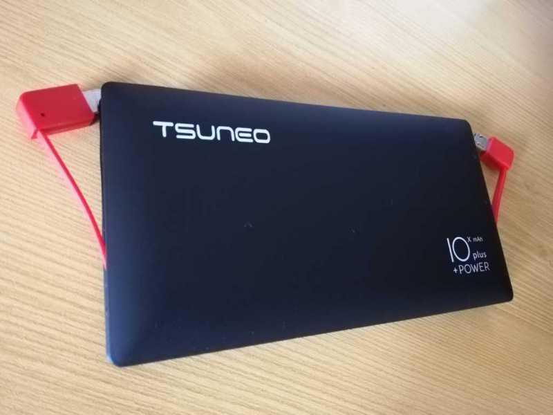 TSUNEO 1000mah PB-01モバイルバッテリーの内蔵USBケーブル