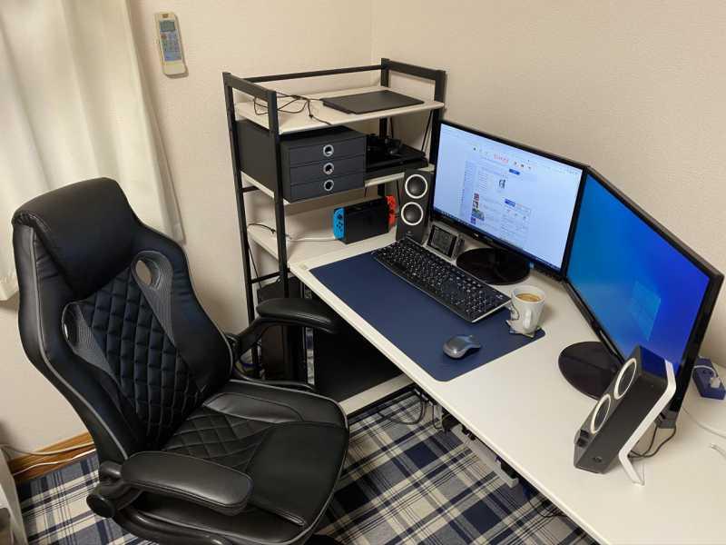 オンラインゲームが快適にプレイできる「インドア派」な自宅のPC環境:27歳男性のパソコン作業環境