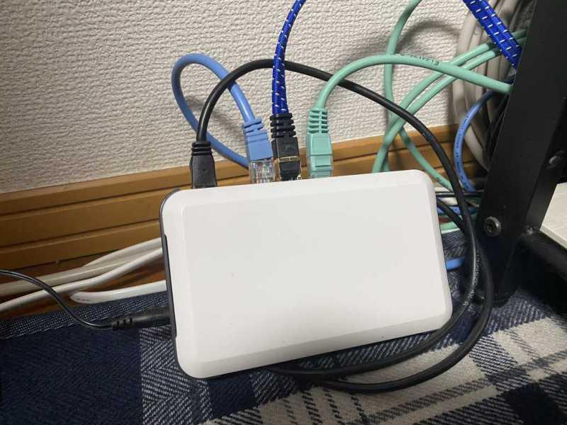 有線LANスイッチングハブ:Logitec LAN-SW05/PH