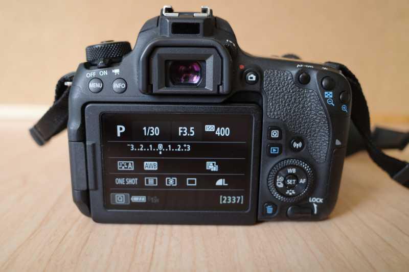 CANON EOS 9000Dデジタルカメラの液晶ディスプレイ