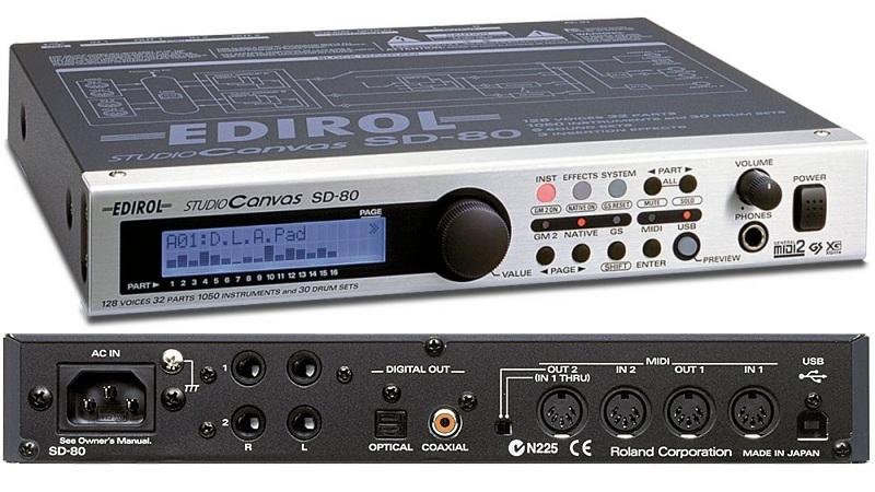 外部MIDI音源EDIROL STUDIO CANVAS SD-80