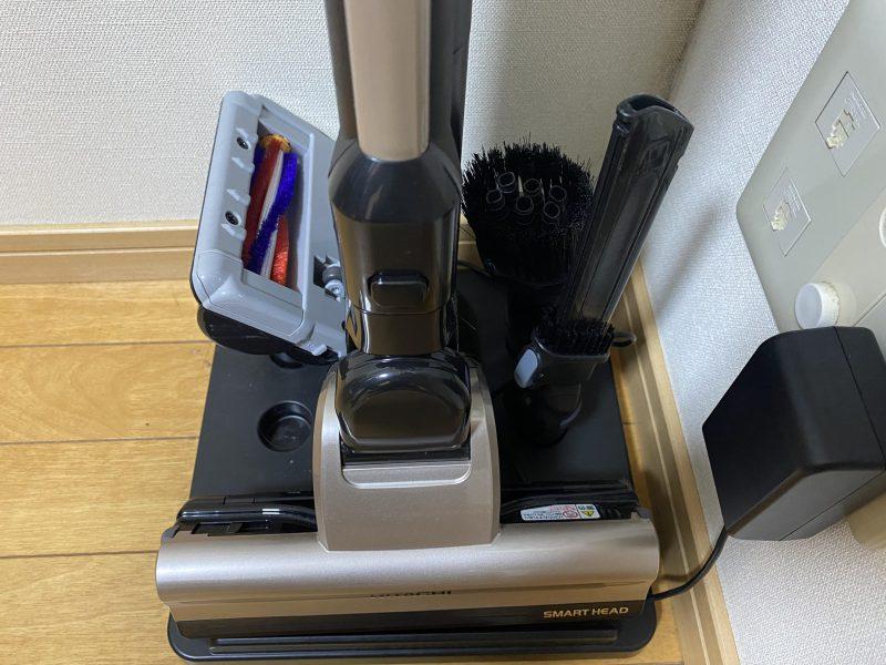 日立 PV-BH900Hコードレス掃除機の分解収納