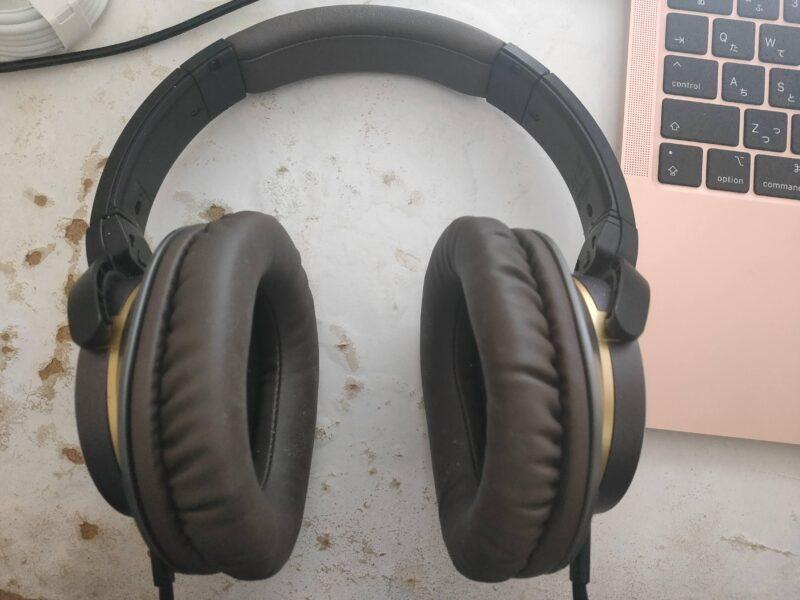 オーディオテクニカ SOLID BASS ATH-WS770ヘッドホンのイヤーパッド