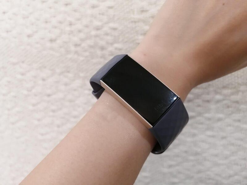 Fitbit Charge3スマートウォッチのサイズ感