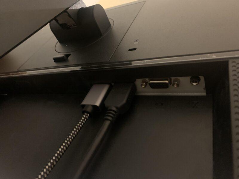 ></noscript>HP 24MH[23.8-inch]PCモニターの接続端子