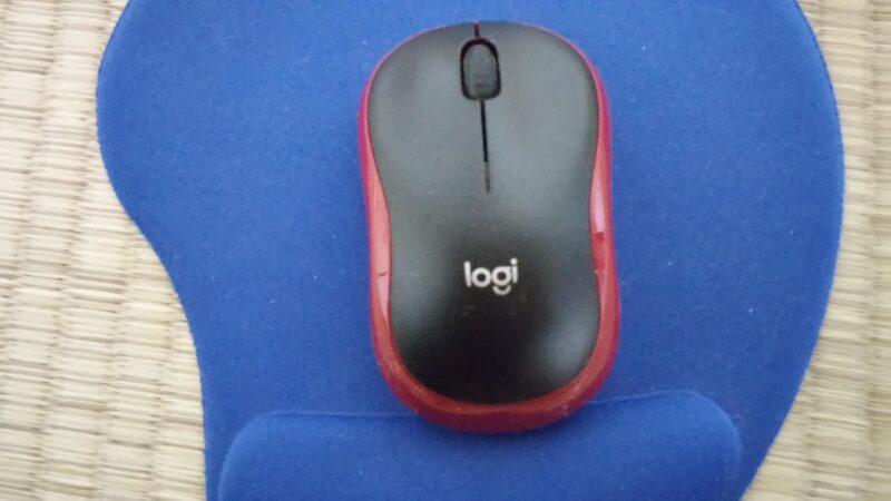 LOGICOOL M185ワイヤレスマウスのサイズ