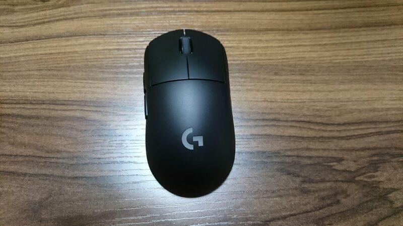 Logicool G PRO WIRELESSゲーミングマウスの正面