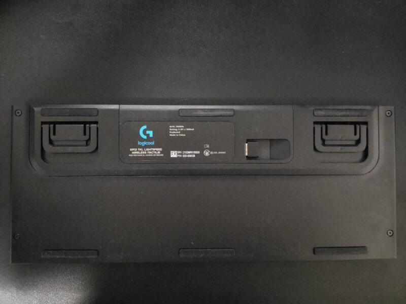 Logicool G913ゲーミングキーボードの裏側
