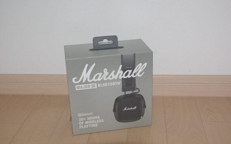 Marshall MAJOR III Bluetoothヘッドホンのパッケージ