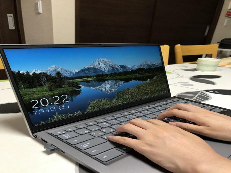DELLl inspiron 14 5000(5410)ノートパソコンのキーボードの使用感